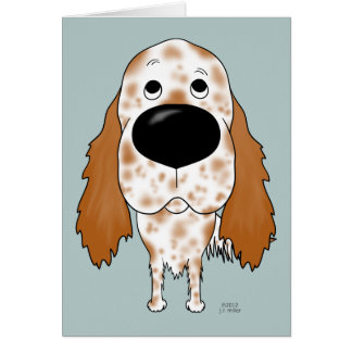 Big Nose English Setter Card