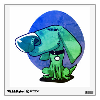 big nose funny dog cartoon wall decal