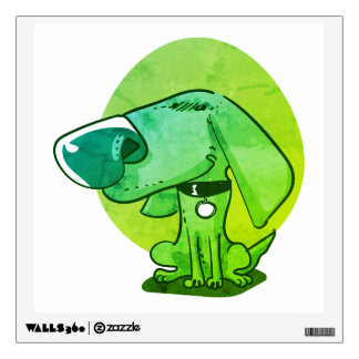 big nose funny dog cartoon wall sticker
