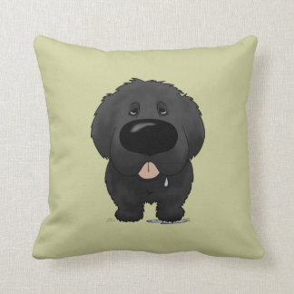 Big Nose Newfie Throw Pillow
