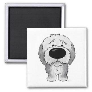 Big Nose Sheepdog Square Magnet