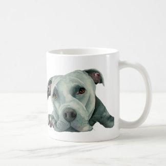 Big Ol' Head - Pit Bull Dog Watercolor Painting Coffee Mug