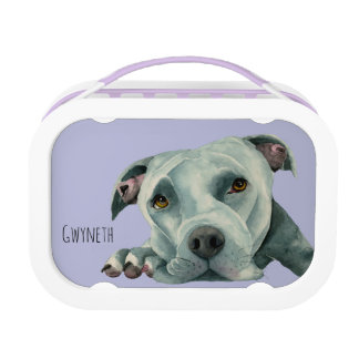 Big Ol' Head - Pit Bull Dog Watercolor Painting Lunch Box