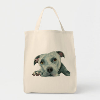 Big Ol' Head - Pit Bull Dog Watercolor Painting Tote Bag