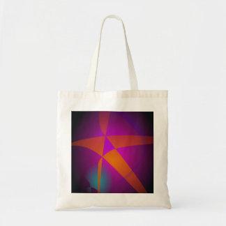 Big Orange Abstract Star Canvas Bag