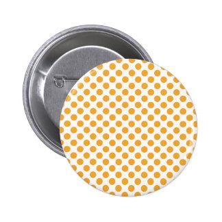 Big Orange Dots on White 2 Inch Round Button