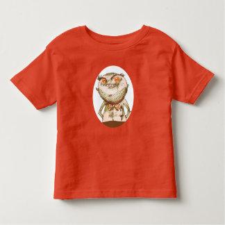 big orange eyes weird man funny cartoon toddler t-shirt