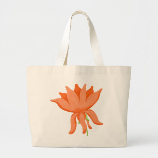Big Orange Flower Totebag Jumbo Tote Bag