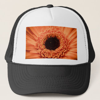 Big Orange Gerbera Daisy Trucker Hat