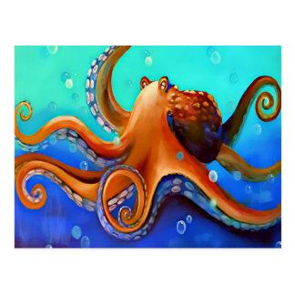 Big Orange Octopus Zazzle Postcard
