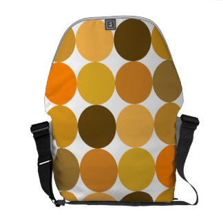 Big Orange Polka Dots Commuter Bag