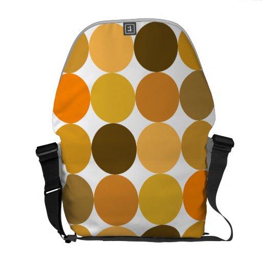 Big Orange Polka Dots Commuter Bag