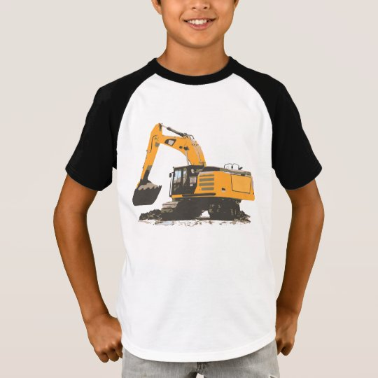 Big Orange Retro Excavator #3 T-Shirt