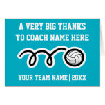 Big oversized Thank You card for volleyball coach