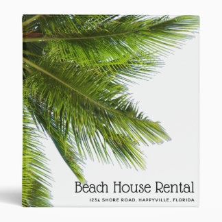 Big Palm Fronds Custom Empty Binder