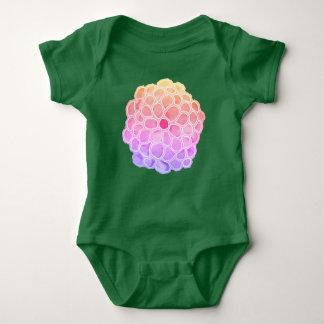 Big Pastel Painted Flower Baby Bodysuit