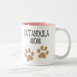 Big Paws Catahoula Mom Two-Tone Coffee Mug