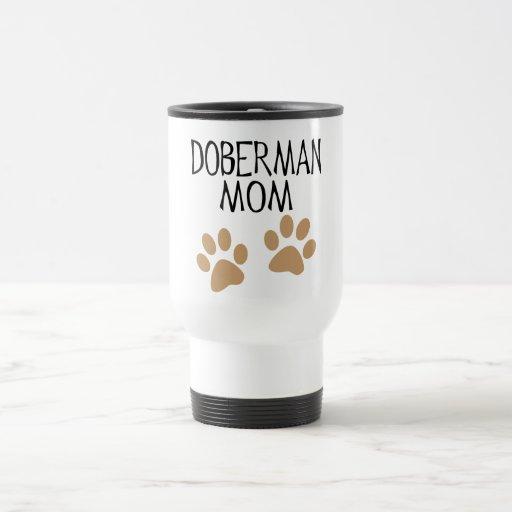 Big Paws Doberman Mom Coffee Mug