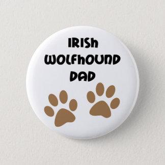 Big Paws Irish Wolfhound Dad 2 Inch Round Button
