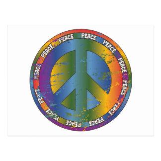 Big Peace Symbol Postcard