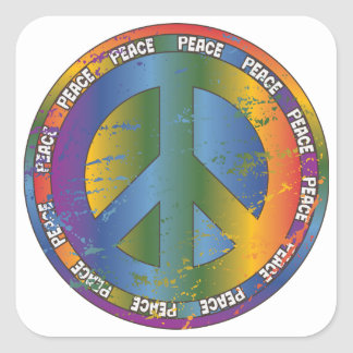 Big Peace Symbol Square Sticker