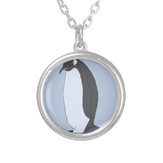 Big Penguin Silver Plated Necklace