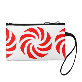 Big Peppermint Holiday Candy Coin Purse
