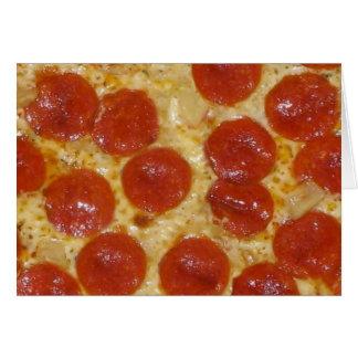 big pepperoni pizza card