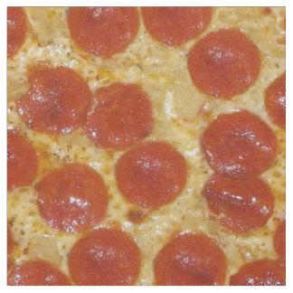 big pepperoni pizza fabric
