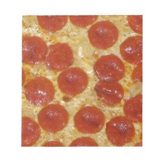 big pepperoni pizza notepad