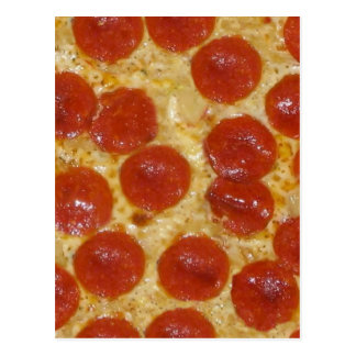 big pepperoni pizza postcard