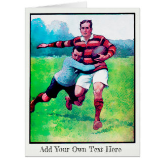 Big Personalized Rugby Card