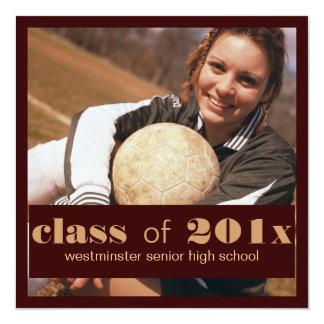 Big Photo Graduation Invitation Announcement