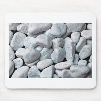 Big pile of gray and white stones from the beach mouse pad