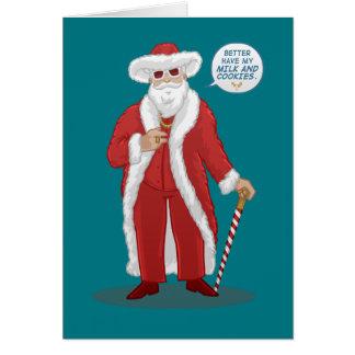 """Big Pimpin' Santa Clause"" Christmas Card"
