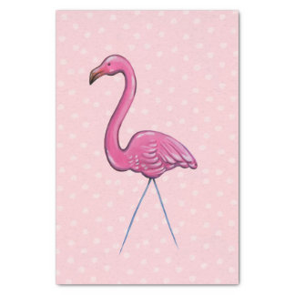 Big pink flamingo tissue gift wrapping paper