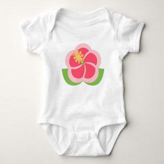 Big Pink Flower Baby Bodysuit