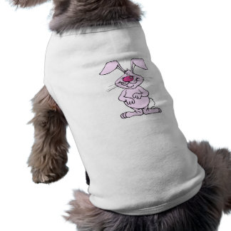 big pink happy silly rabbit.png dog tee