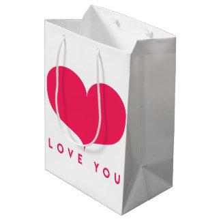 Big Pink Heart Romantic Gift Bag