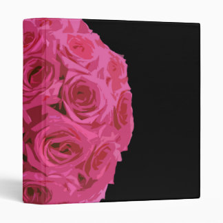 Big Pink Rose Bouquet Binder