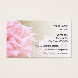 Big Pink Roses Blend Business Card
