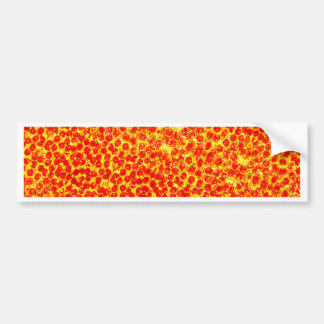 Big Pizza Pattern Bumper Sticker