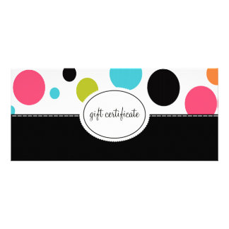 Big Polka Dots Boutique Style Gift Certificates Full Color Rack Card