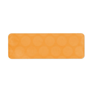 BIG POPSICLE ORANGE SUMMER POLKADOTS CIRCLES POLKA RETURN ADDRESS LABEL