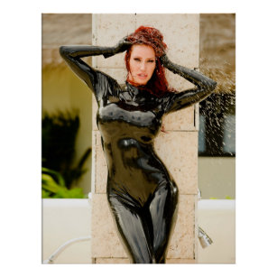 Latex Ebony Catsuit
