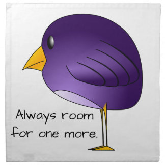 Big Purple Bird: Always Room For More Customizable Napkin