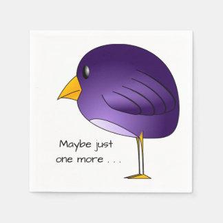 Big Purple Bird: Maybe just one more Customizable Napkin