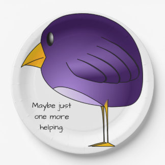 Big Purple Bird: Maybe just one more Personalized Paper Plate