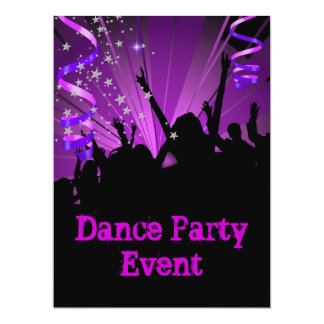 Big Purple Dance Party Event Crowd Rave Card