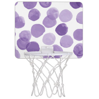 Big Purple Dots Pattern Mini Basketball Hoop